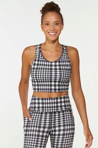 Checkered Sports Bra