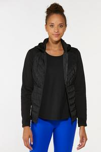 Plus Size Quilted Active Jacket