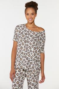 Plus Size Leopard Lounge Top