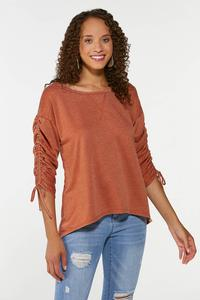 Plus Size Ruched Sleeve Top