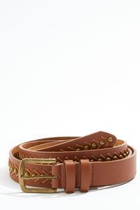 Plus Size Stud Stitch Belt