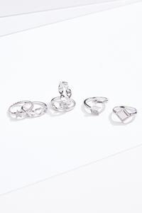 Silver Icon Ring Set