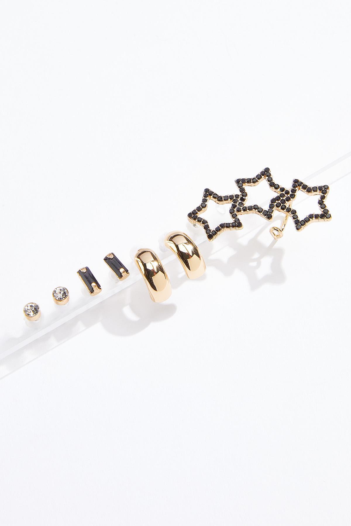 Star Crawler Stud Earring Set