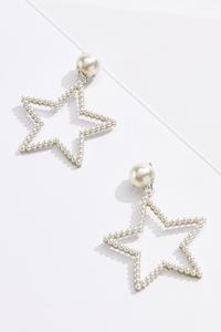 Pearl Star Clip-On Earrings