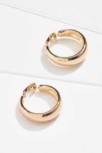 Gold Hoop Clip-On Earrings