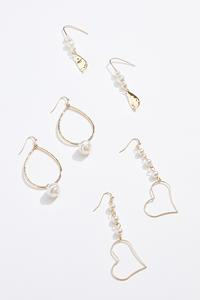 Gold Metal Earring Set