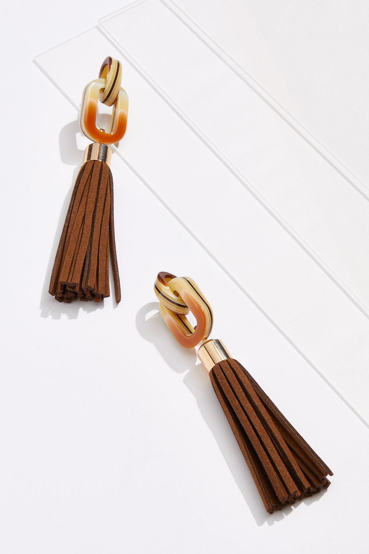 Faux Suede Tassel Earrings