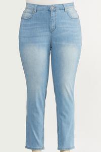 Plus Size Light Wash Skinny Jeans