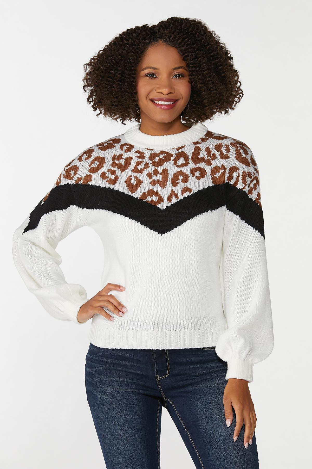 Animal Colorblock Sweater