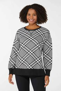 Houndstooth Sweatshirt