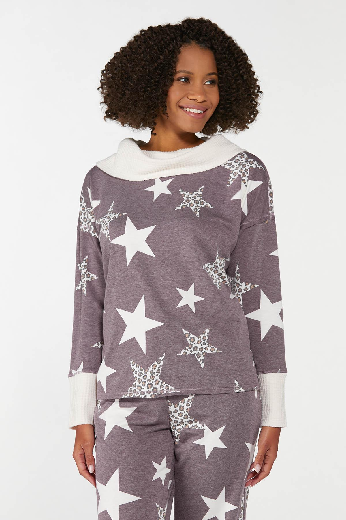 Plus Size Starry Eyed Lounge Top