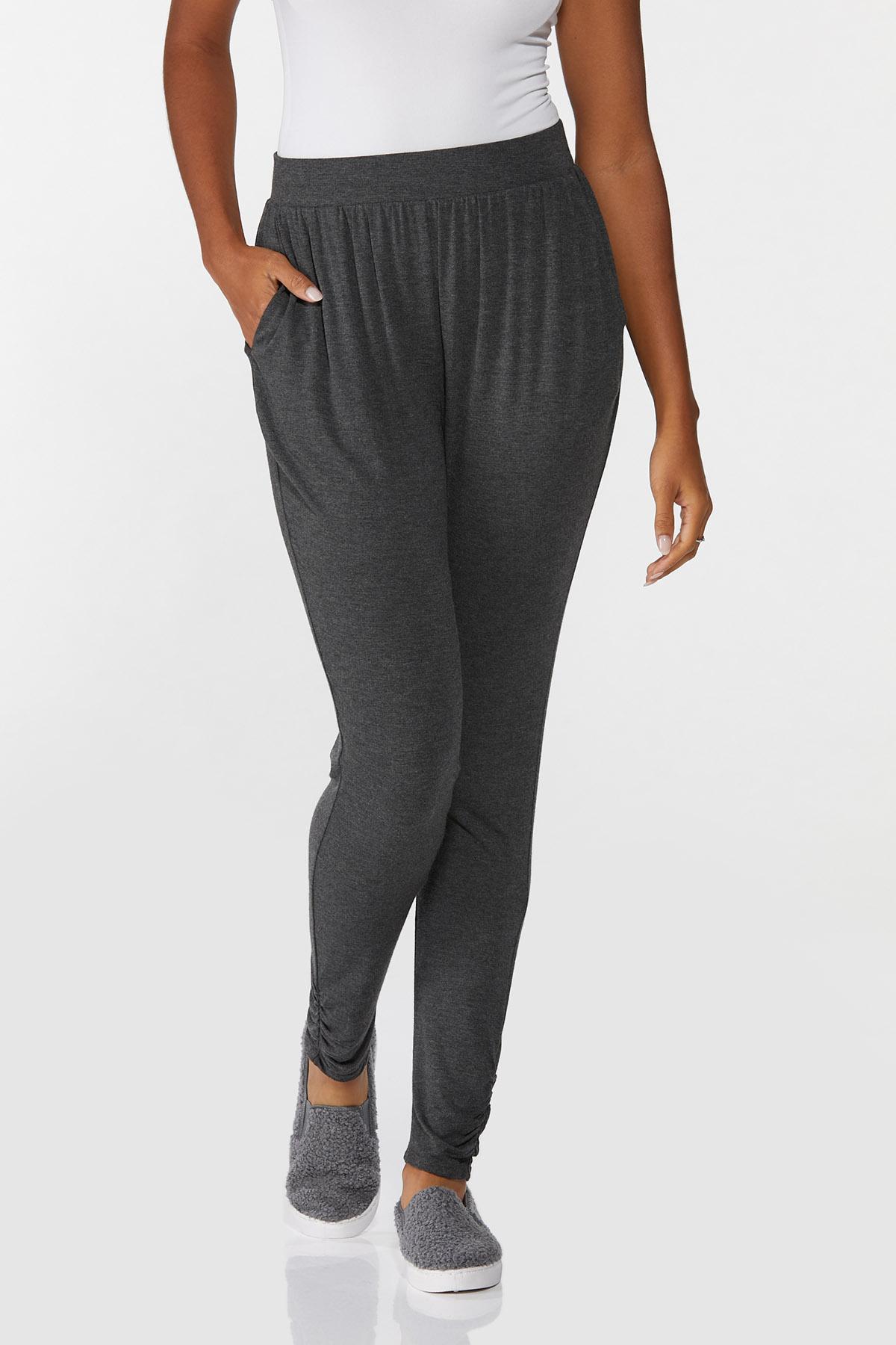 Charcoal Pull-On Pants