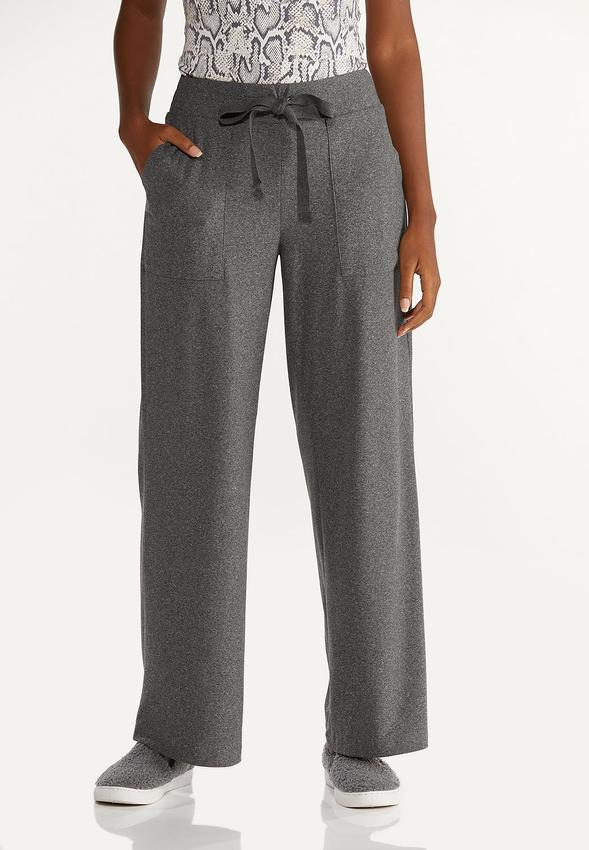 Petite Gray Drawstring Pants
