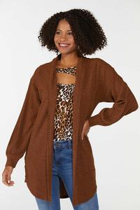 Plus Size Ribbed Duster Sweater