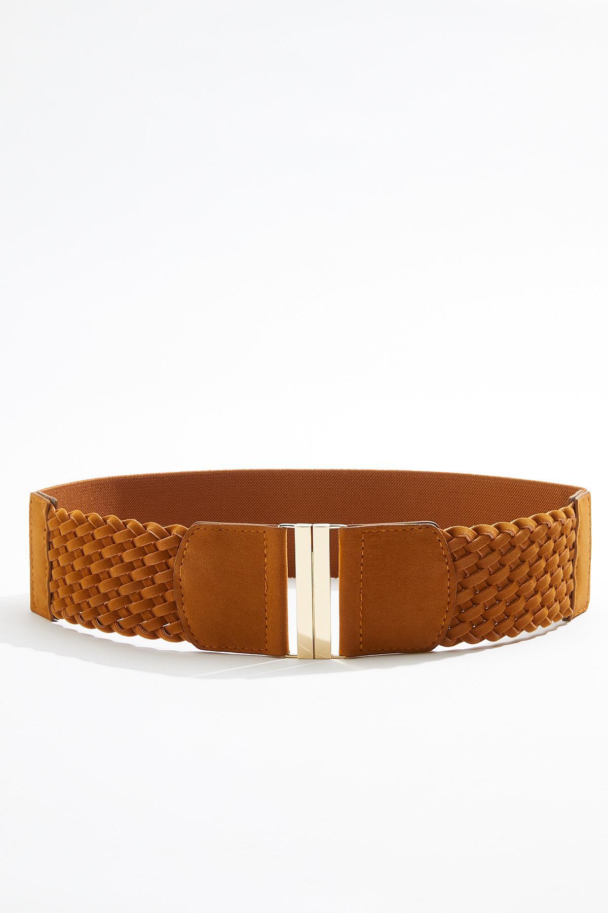 Plus Size Woven Stretch Belt