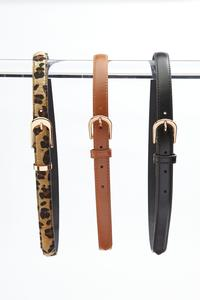 Plus Size Skinny Belt Set