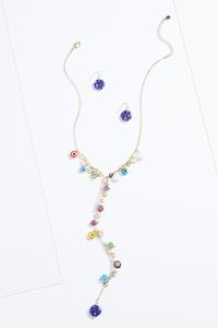 Floral Shaky Bead Necklace Set