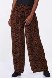 Leopard Wide Leg Pants