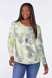 Plus Size Limelight French Terry Top