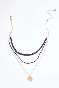 Layered Black Stone Necklace