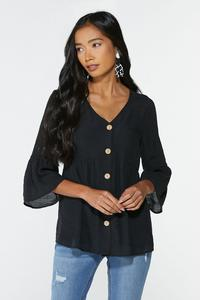 Plus Size Bell Sleeve Babydoll Top