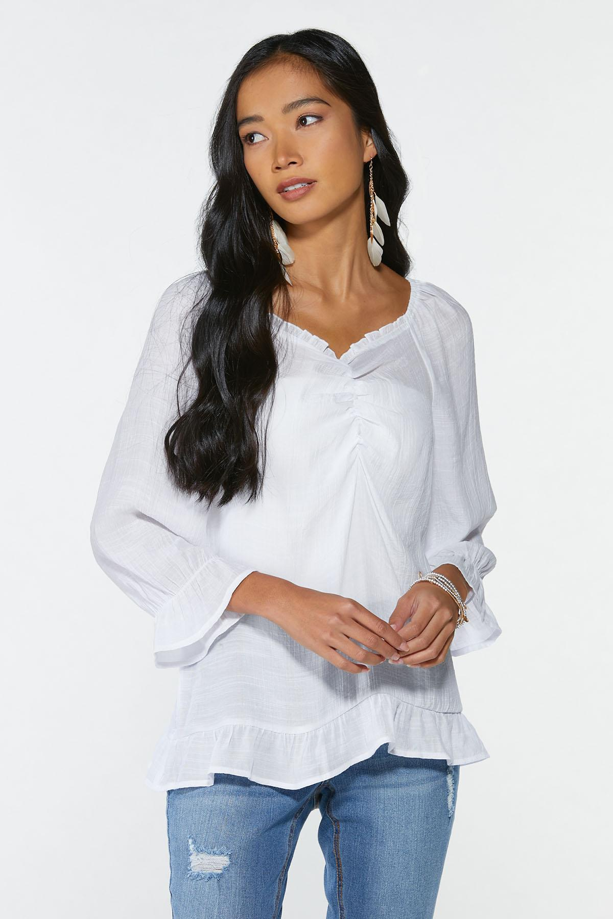 Plus Size Cinched Front Top