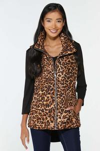 Leopard Puffer Vest