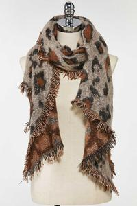 Leopard Sequined Scarf