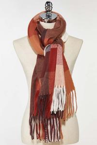 Box Plaid Cold Weather Scarf