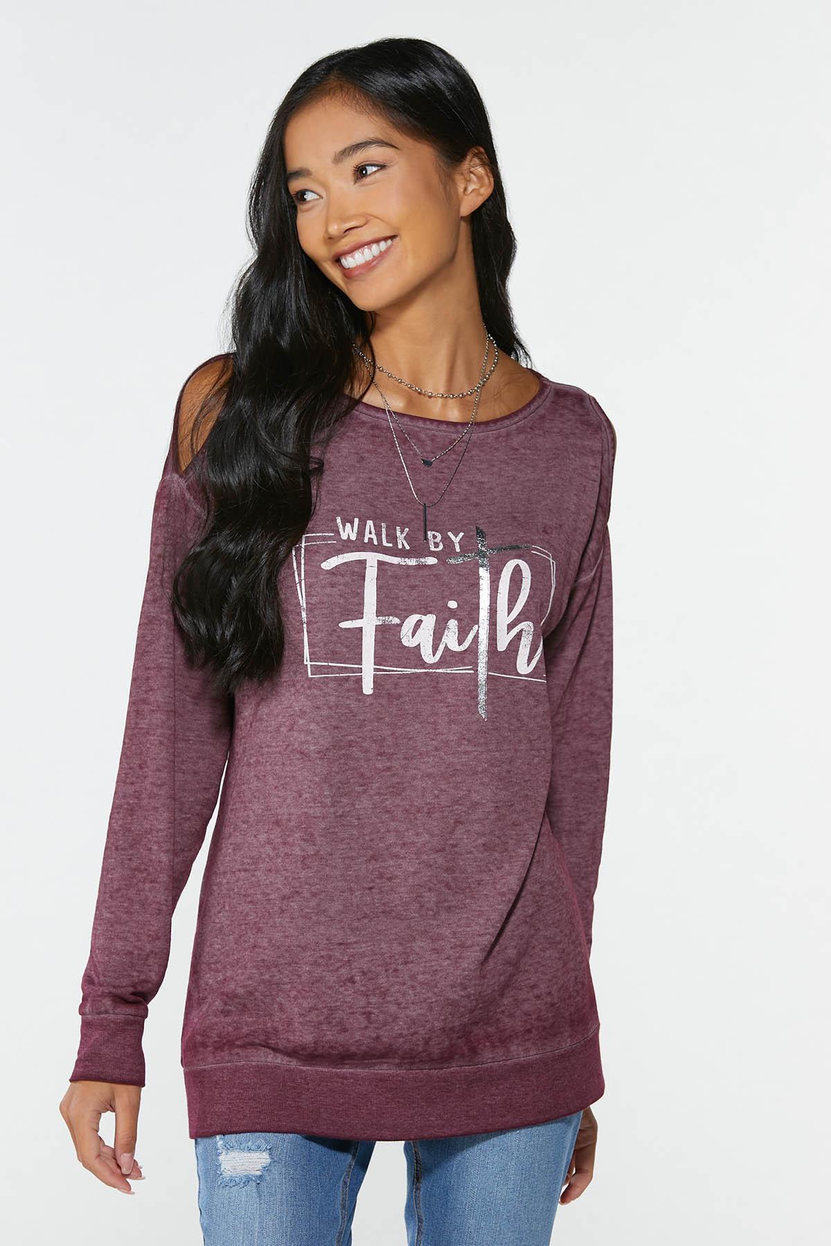 Faith Cold Shoulder Sweatshirt