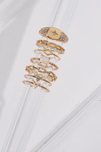 Gold Glam Ring Set