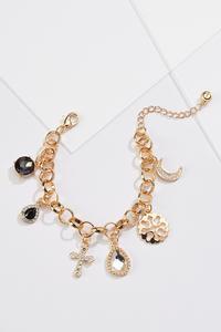 Gold Inspirational Charm Bracelet