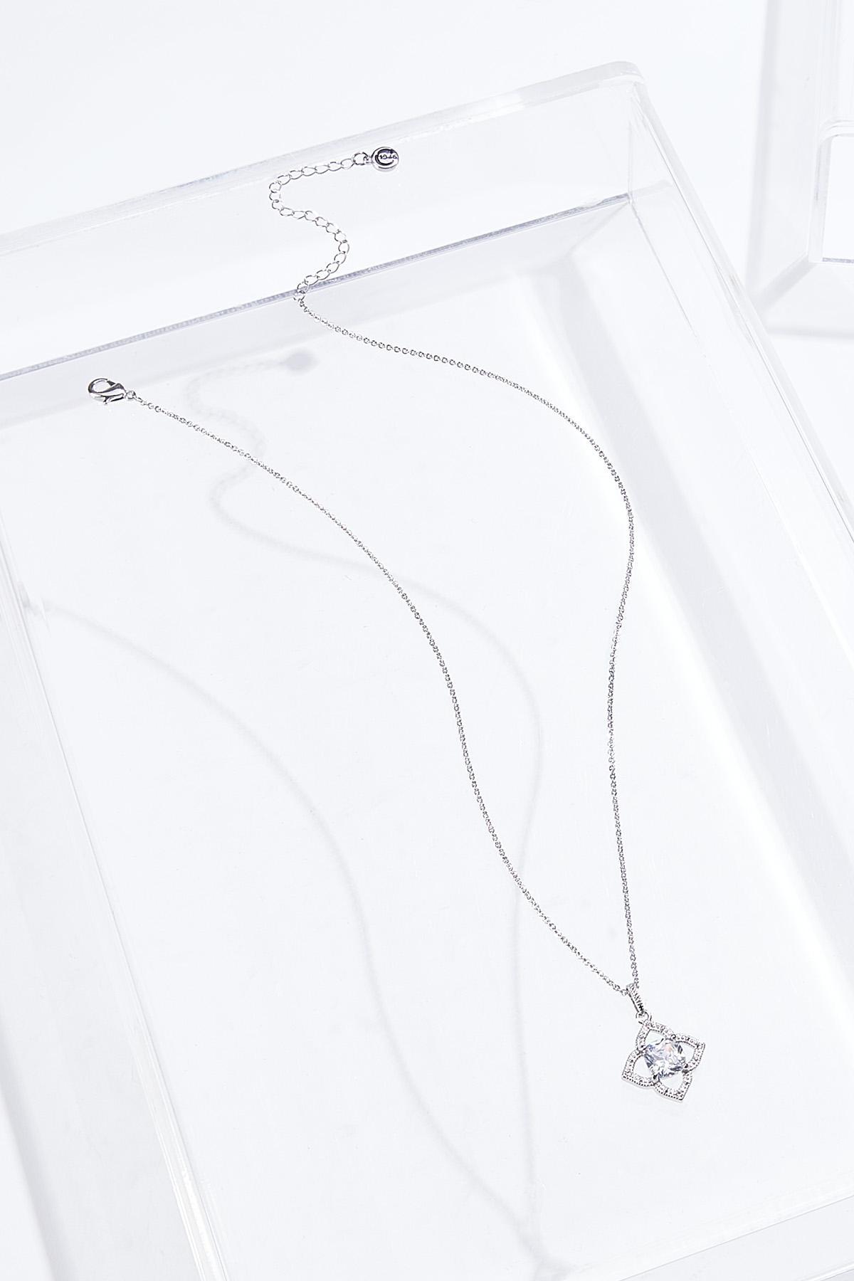 Cushion Cut Clover Necklace