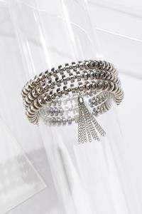 Silver Tasseled Bracelet