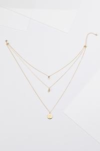 Delicate Layered Charm Necklace