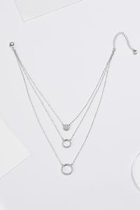 Layered Rhinestone Necklace