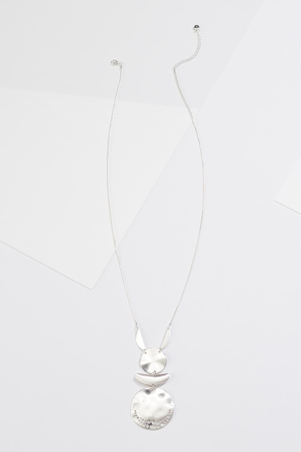 Tiered Silver Metal Necklace