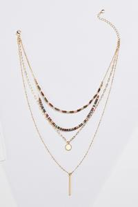 Layered Linear Bar Necklace