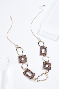 Textured Leopard Chain Necklace