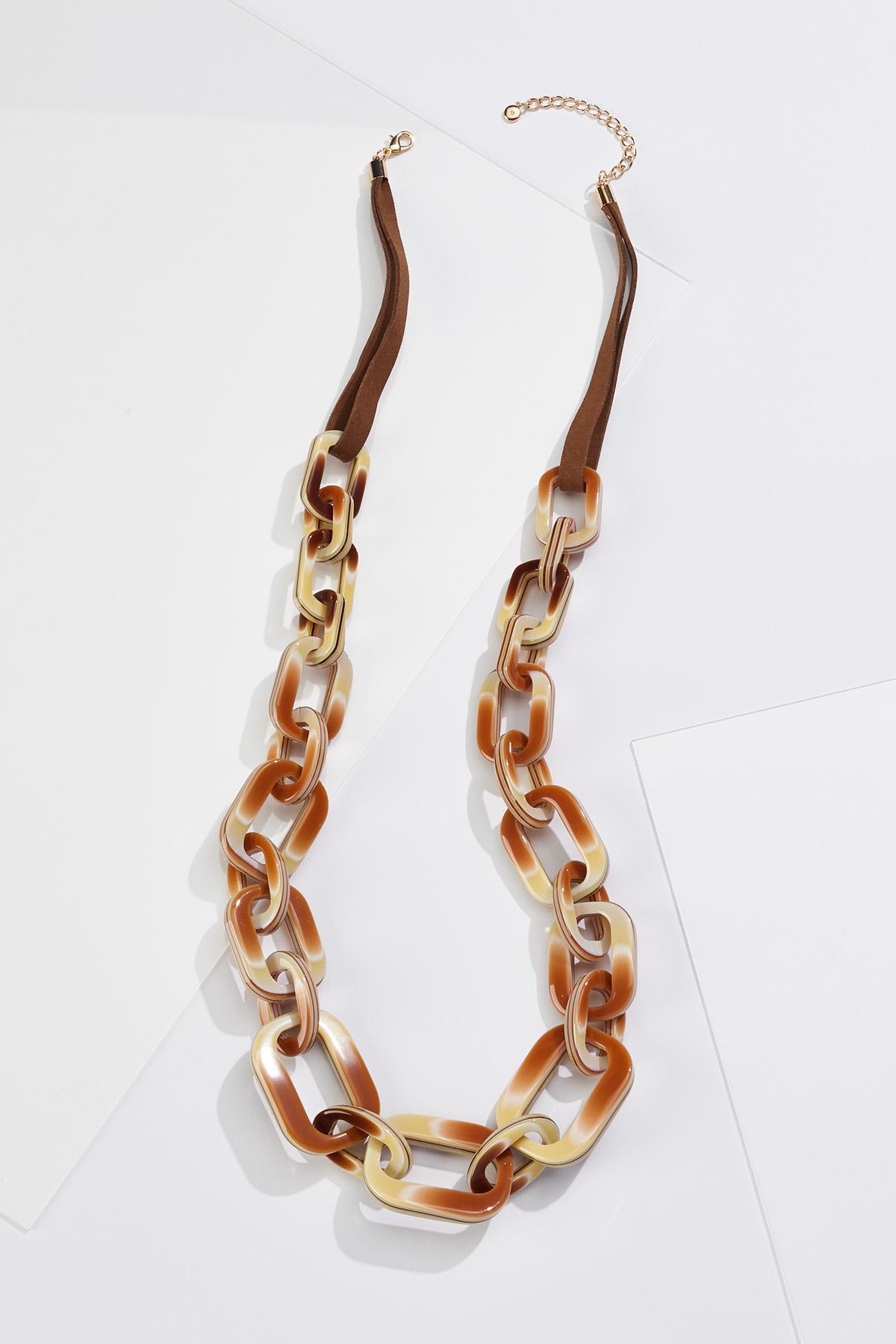 Lucite Link Necklace