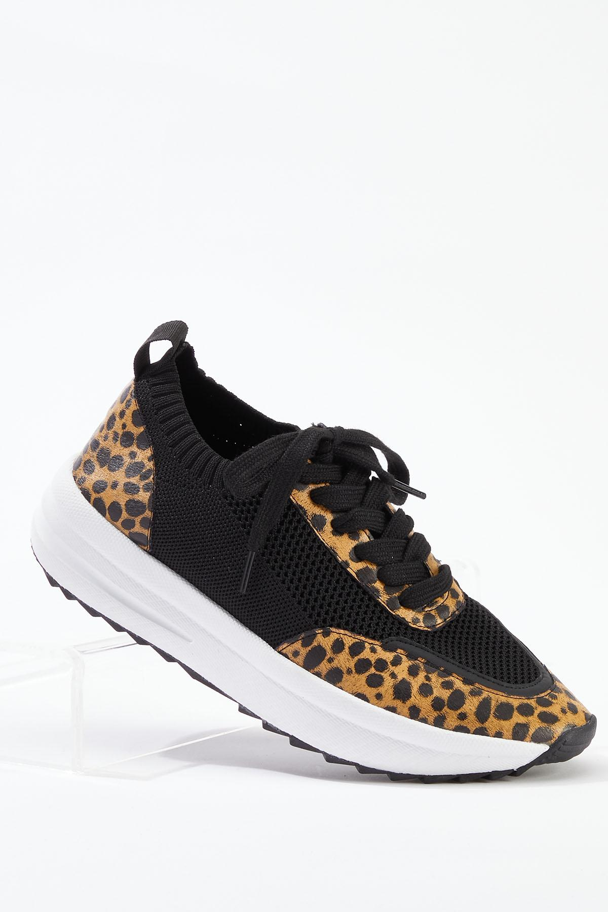 Leopard Trim Sneakers