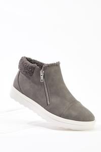 Sherpa Trim Zipper Sneakers