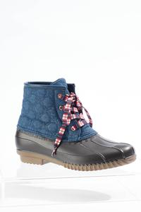Denim Quilted Duck Boots