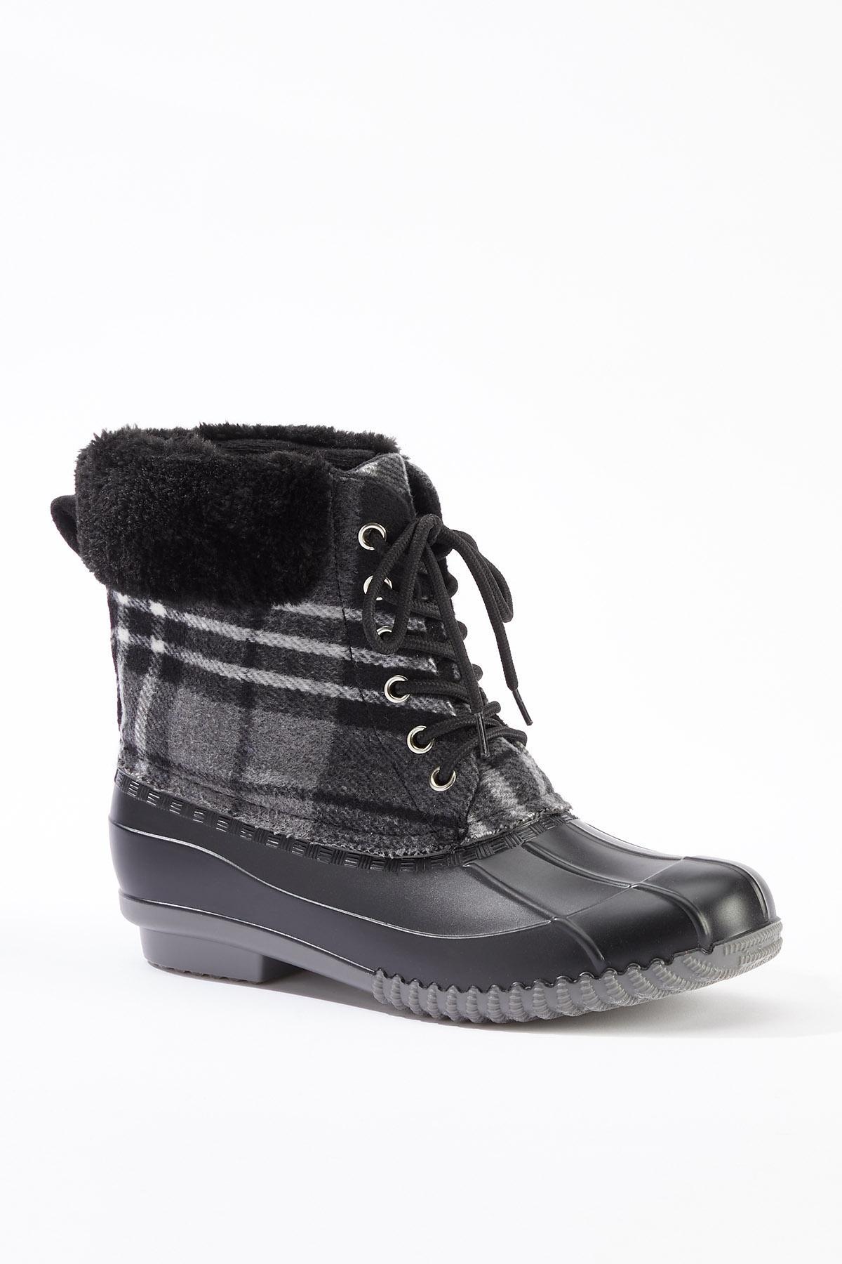 Sherpa Cuff Duck Boots