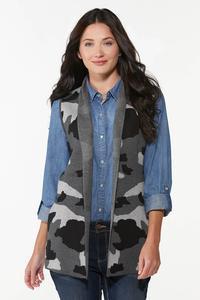 Camo Sweater Vest