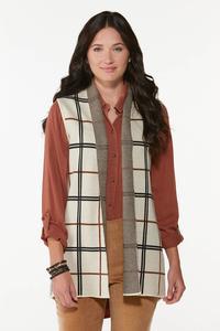 Jacquard Plaid Vest