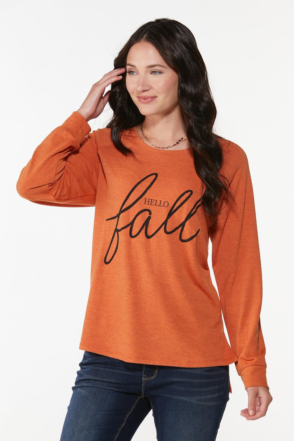 Plus Size Hello Fall Top