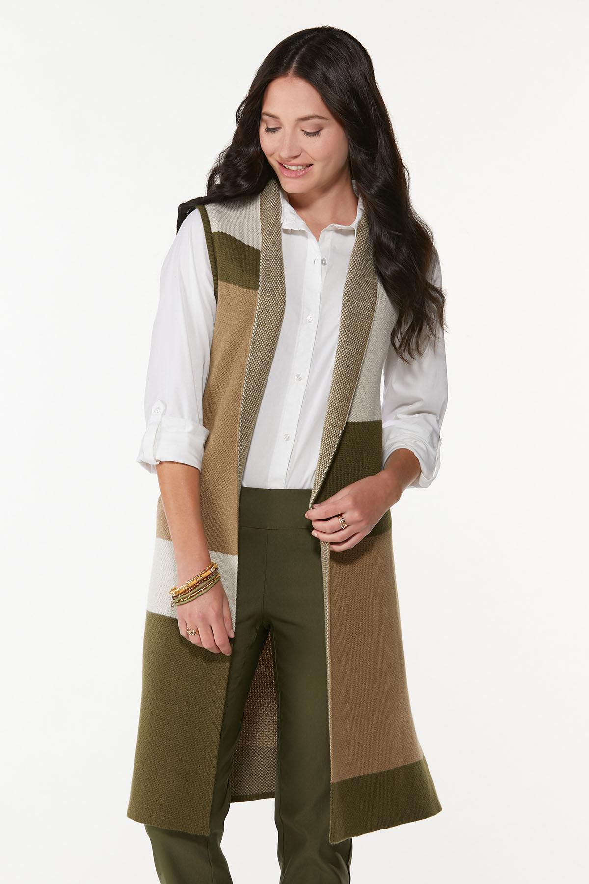 Colorblock Sleeveless Sweater