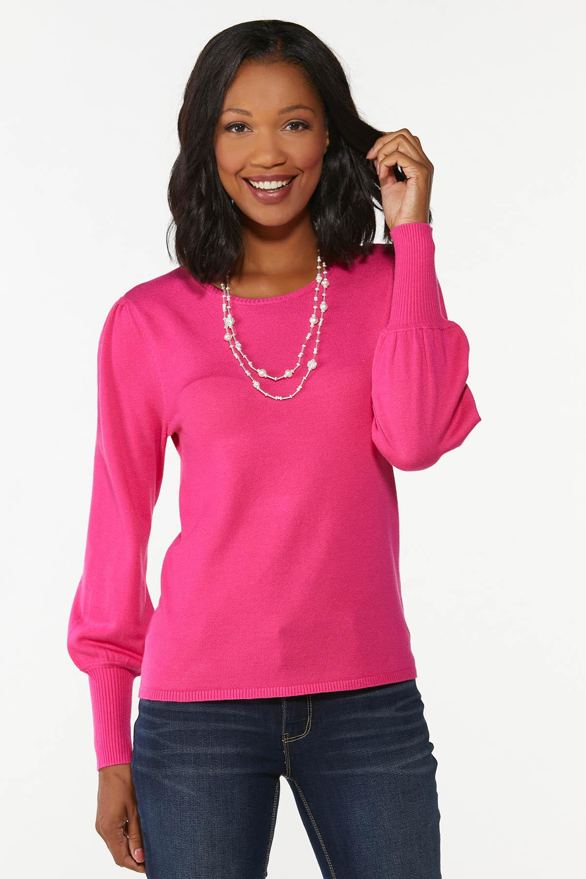 Balloon Sleeve Sweater