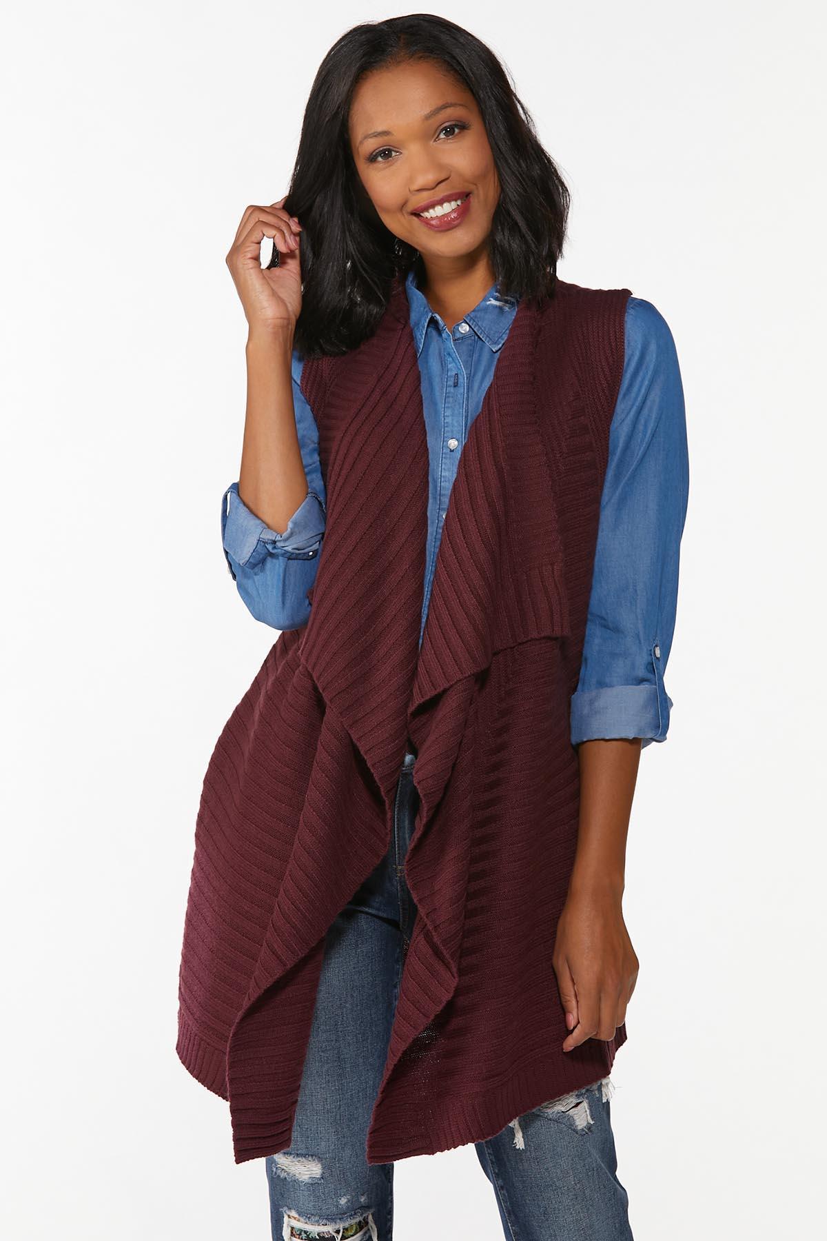 Draped Cardigan Sweater